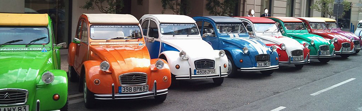 2CV's Tour Cannes Nice Provence